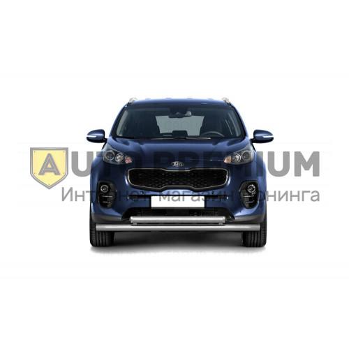Защита переднего бампера двойная Ø63/63мм (НПС) KIA Sportage 2016-